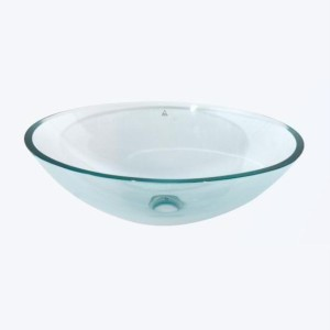Round glass basin