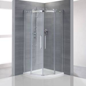 Sloegrin frameless quadrant shower enclosure