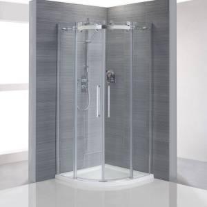 Sloegrin frameless quadrant shower enclosure
