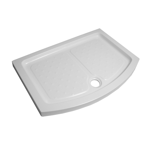 sliding door shower tray