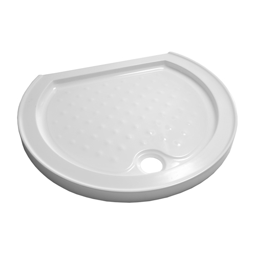D shaped shower trays available