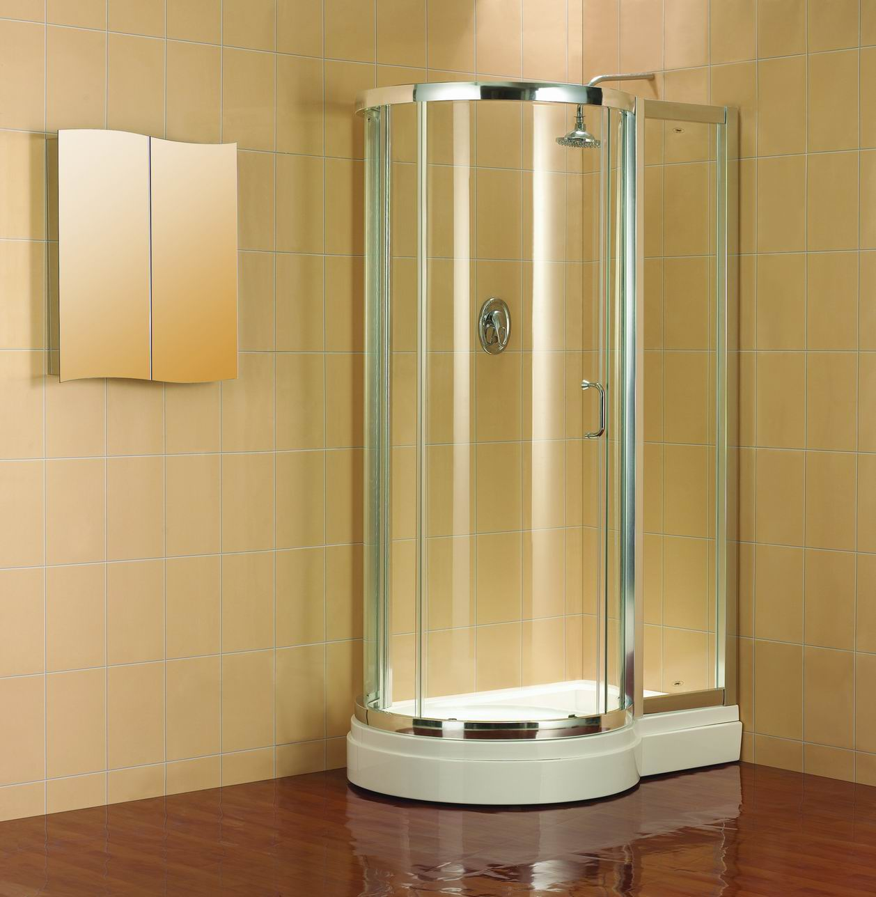 Quadrant Shower Doors The Alternative Bathroom Blog - Alternative to tiles in shower cubicle